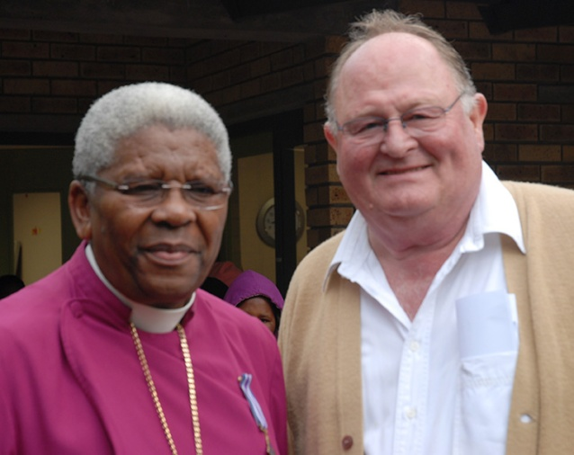 His Grace, the retired Archibishop Ndungane and Uwe Hass