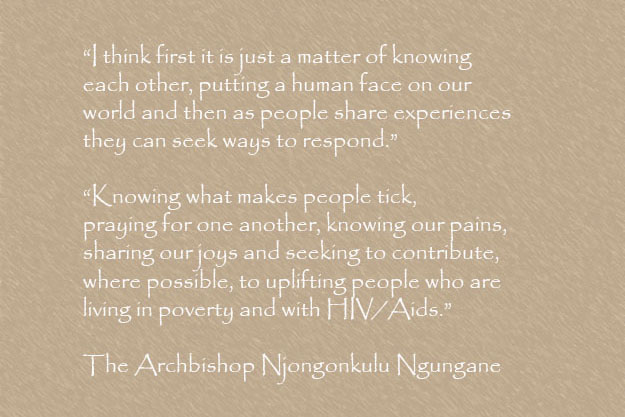 Quote  from Archbishop Ndungane