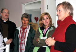 Rector Craig Phillips, Diana Higgs, Anna Fernau, Monika du Sautoy