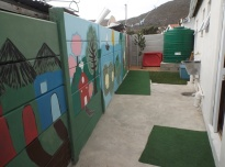 Back yard mural