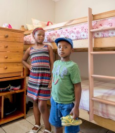 Bunk beds in the girls' room